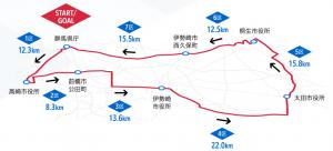 ニューイヤー駅伝コース(出典:コニカミノルタ陸上競技部)